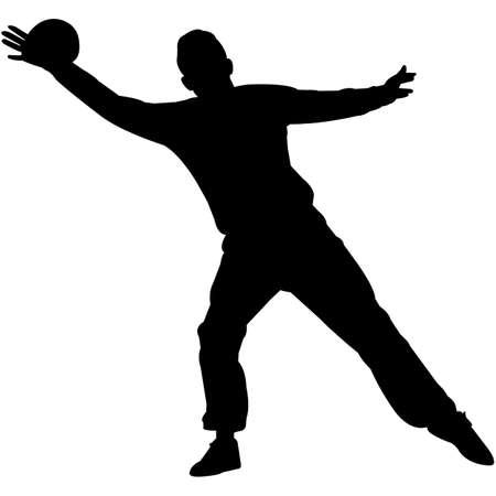 Handball Men Silhouette Vector