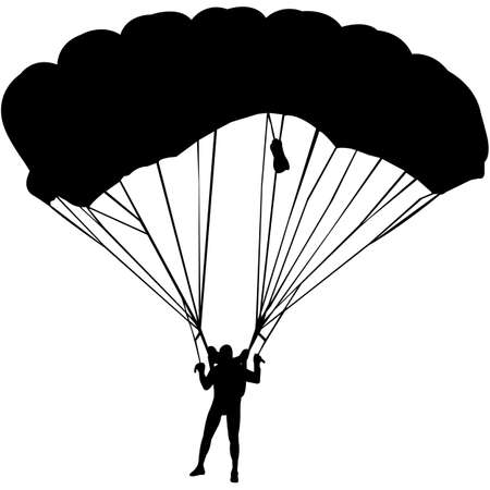 Parachuting Silhouette Vector