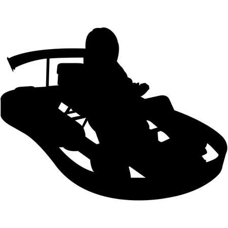 Go Karting Silhouette Vector Stock Illustratie