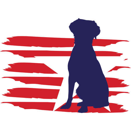 Brittany Spaniel Dog flag, American Flag, Fourth of July, 4th of July, Patriotic, Cricut Silhouette Cut File, Cutting file