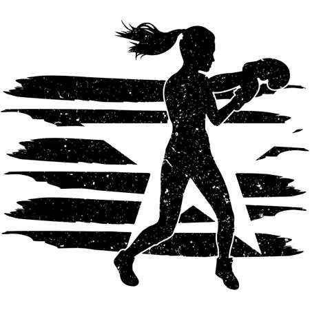 Boxing Women  flag, American Flag, Fourth of July, 4th of July, Patriotic, Cricut Silhouette Cut File, Cutting file