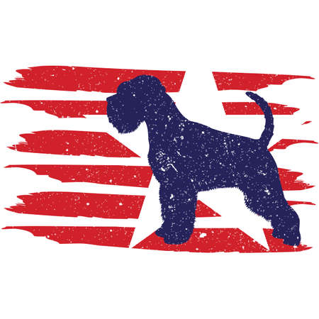 Miniature Schnauzer Dog flag, American Flag, Fourth of July, 4th of July, Patriotic, Cricut Silhouette Cut File, Cutting file