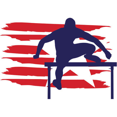Hurdle  Track and Field flag, American Flag, Fourth of July, 4th of July, Patriotic, Cricut Silhouette Cut File, Cutting file