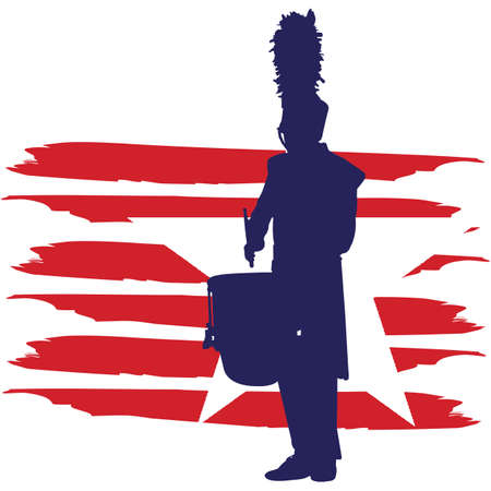Drum Corps flag, American Flag, Fourth of July, 4th of July, Patriotic, Cricut Silhouette Cut File, Cutting file