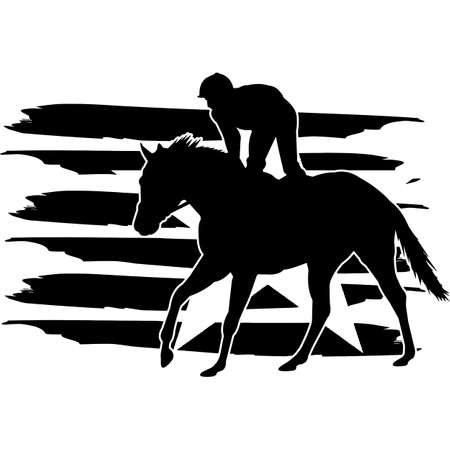 Horse Racing flag, American Flag, Fourth of July, 4th of July, Patriotic, Cricut Silhouette Cut File, Cutting file