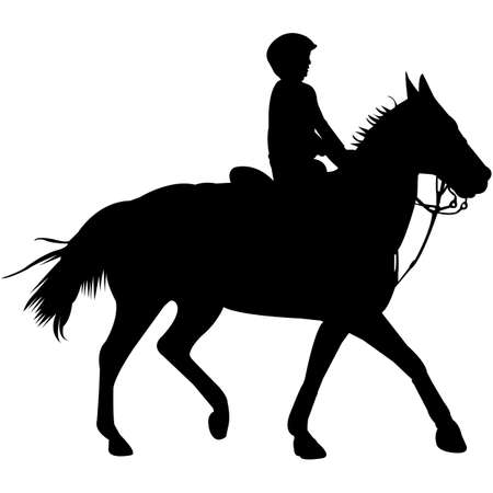 Isolated Walk Trot Keyhole Race Jr Silhouette Vector