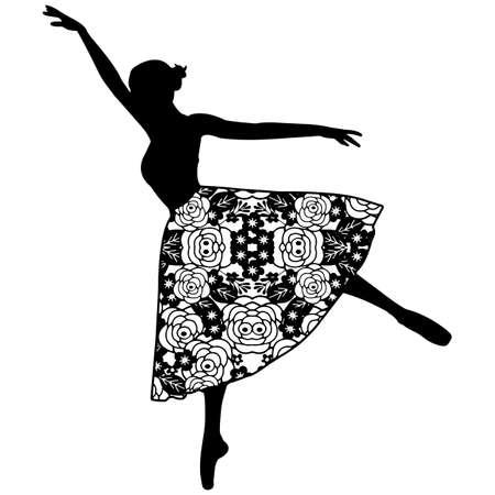 Floral Ballet Vector Design
