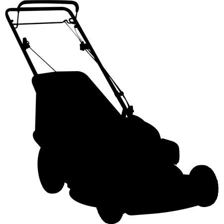 Isolated Gardening Tool Self Propelled Mower Silhouette Vector Illustration 일러스트