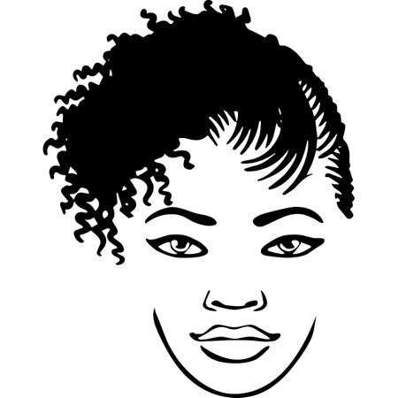 Afro Woman with Short Cornrows and Dreadlocks, African American woman , Black Woman , cricut cut files , black history