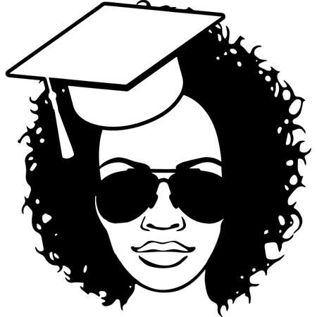 Afro Woman  with Cornrow with Curly Weave, African American woman ,  Black Woman  , cricut cut files , black history month