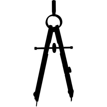 Isolated Woodworking Tool compass Silhouette Vector Illustration Vektoros illusztráció