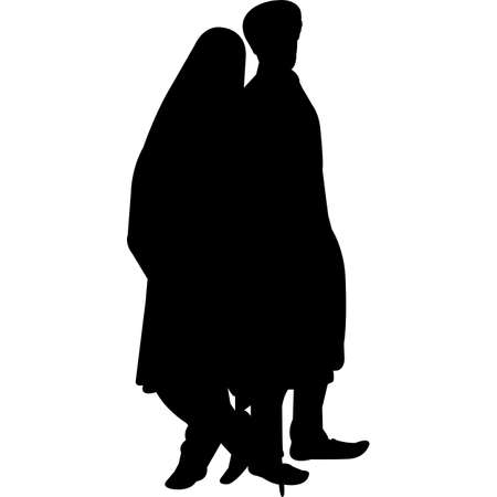 Sikh Wedding Couple  Vector SIlhouette