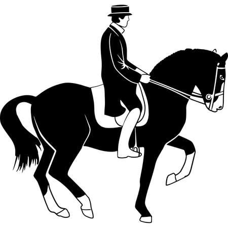 Hand drawn Dressage  Vector Sketch 矢量图像