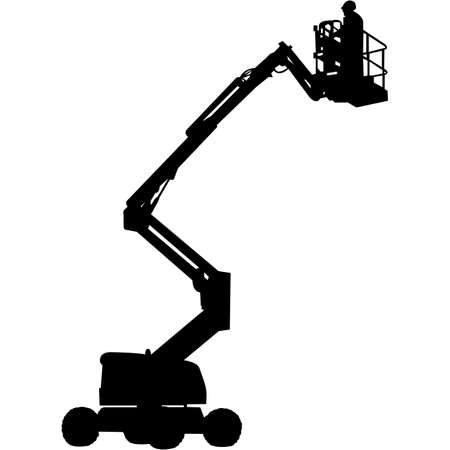 Cherry Picker Silhouette Vector