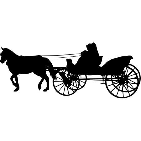 Amish Buggy Silhouette Vector