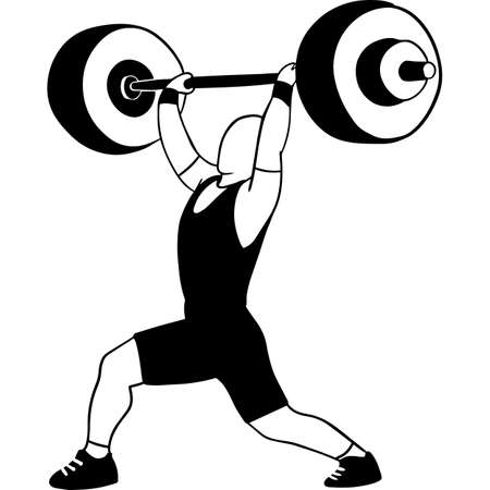 Hand drawn Male Weightlifter Vector Sketch