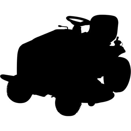 Riding Mower   Silhouette Vector