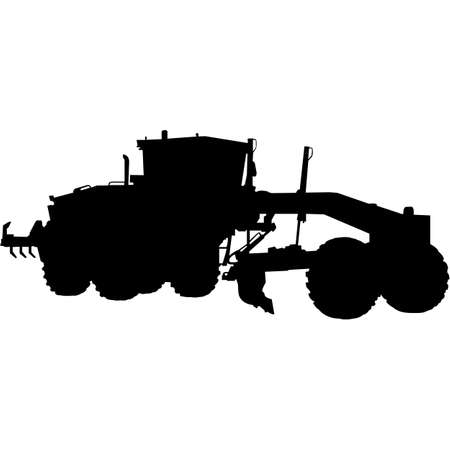 Road Grader   Silhouette Vector