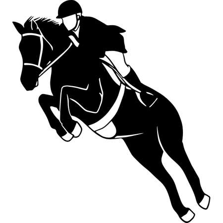 Hand drawn Show Jumping  Vector Sketch