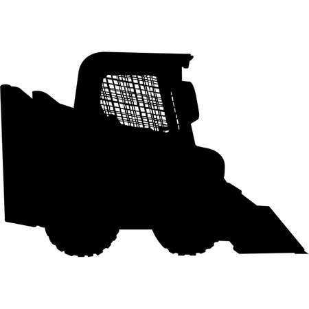 Skid Loader Silhouette Vector