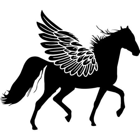 RIP American Saddlebred Horse, Memorial with Angel Wings Silhouette, Sympathy Silhouette, In Loving Memory of digital vector files