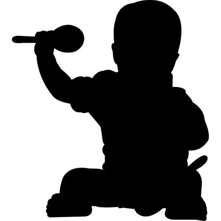 Baby Childhood Cancer Awareness Silhouette Vector
