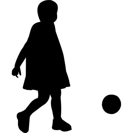 Breast and Girl Childhood Cancer  Silhouette Vector 向量圖像