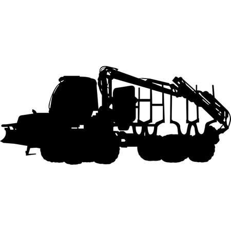 Forwarder Silhouette Vector