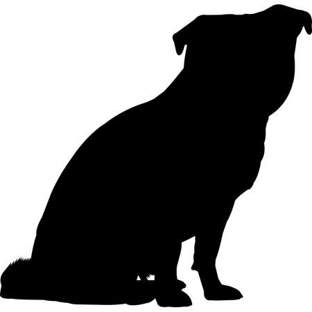 Chug dog Silhouette Vector