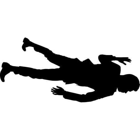 Man Lying Down Silhouette Vector Vecteurs