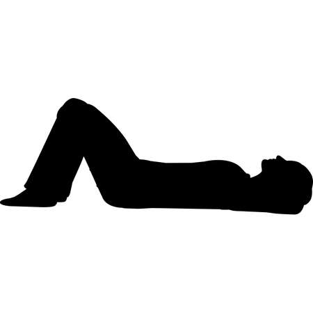 Woman Lying Down Silhouette Vector