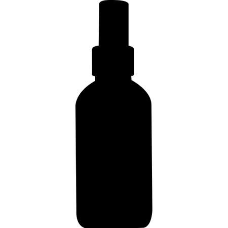 Cosmetic Bottle Silhouette Vector