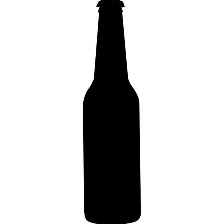 Beer Glass Silhouette Vector