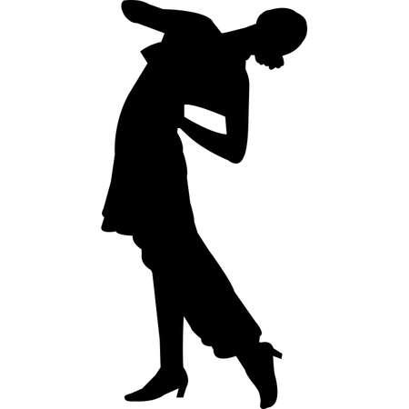 Flamenco Silhouette Vector