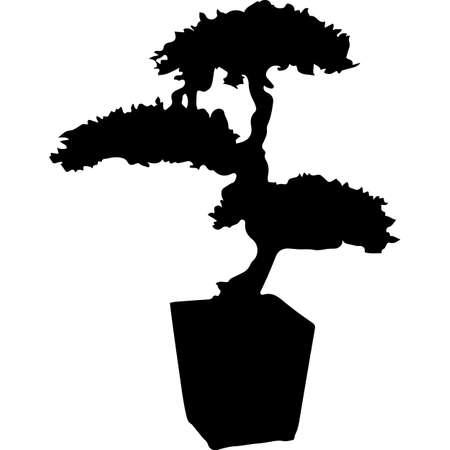 Bonsai Silhouette Vector Stock Illustratie
