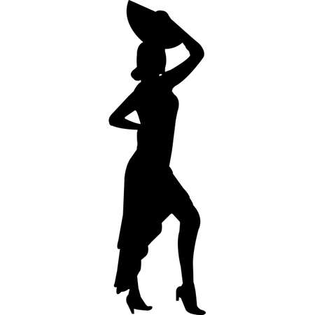 Flamenco Silhouette Vector 矢量图像