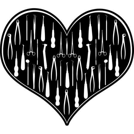Love Dentist-heart_3.zip, Heart Dentist-heart_3.zip, Split frame Vector