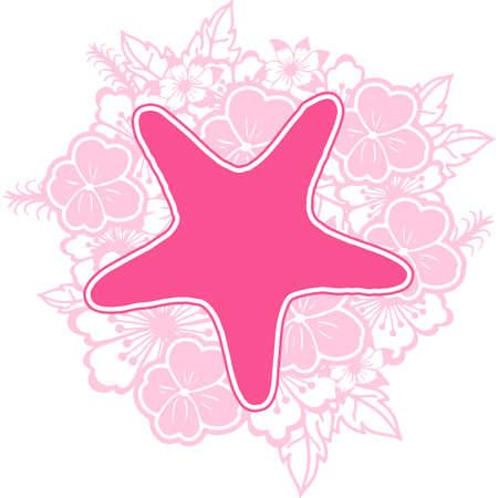Starfish Floral Mandala Vector