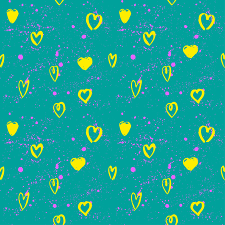 neon wallpaper: Abstract seamless chaotic pattern with urban geometric elementsheart. Grunge neon texture background. Wallpaper for boys and girls.