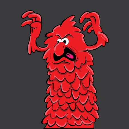 haunt: red monster haunt cartoon character