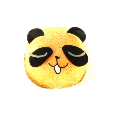 The panda bread on a white background