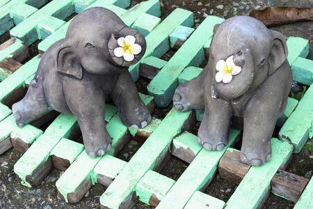 Elephant Statue on texture background Stock Photo - 16728824