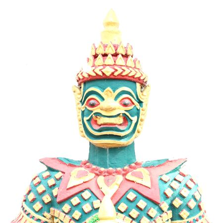 Old Thai giant sculpture on a white background