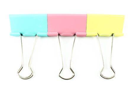 colo: Three colo clip on a white background