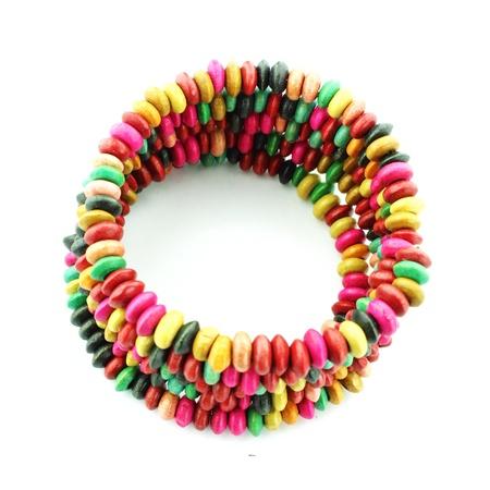 Colorful  bracelet on a white background Stock Photo - 16957213