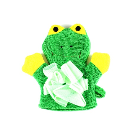 Frog knitted glove on a whhite background Stock Photo