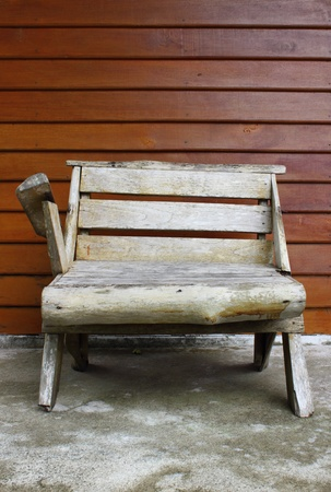 Chair with wooden texture wall photo