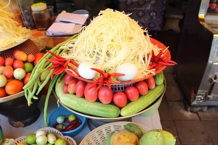 raw material to make green papaya salad Stock Photo - 20463168