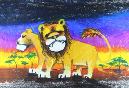 lion drawing Imagens