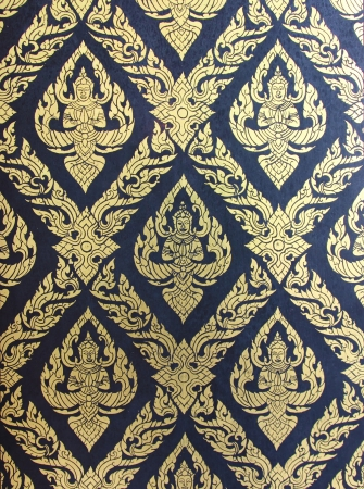 Thai pattern wall photo